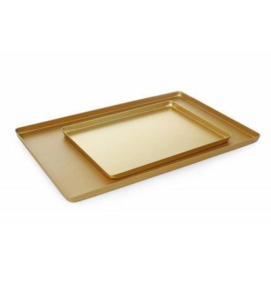 Hendi Auslageplatte Aluminium | Goldfarbig | 400x300x(h)20mm