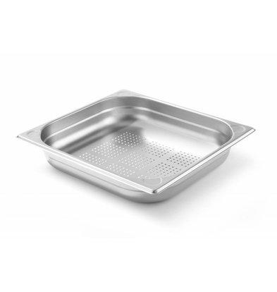 Hendi Gastronorm Behälter 2/3GN | Gelocht | Tiefe 65mm
