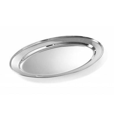 Hendi Edelstahl Serviertablett Oval | Erhältlich in 7 Größen