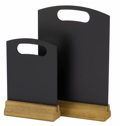 Hendi Tischkreidetafel mit Holzfuß | 210x320mm | 2 Stück