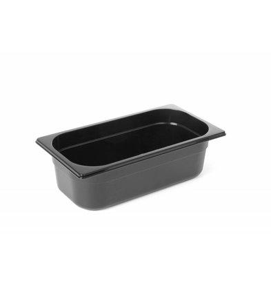 Hendi GN Behälter 1/4 | Polycarbonat Schwarz | Erhältlich in  3 Tiefen