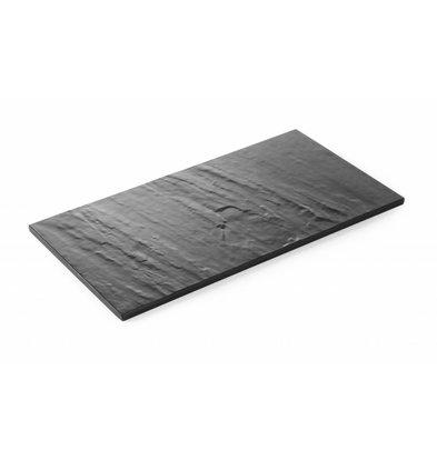 Hendi Servierplatte 1/3GN | Melamin Schieferfarbe | 325x175x(h)7mm