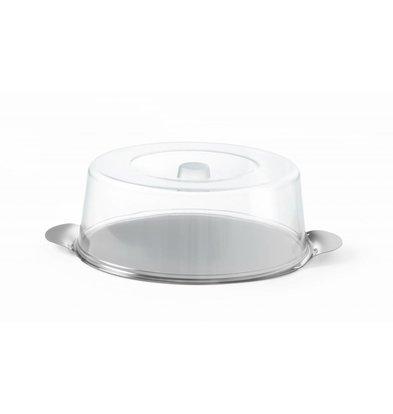 Hendi Tortenplatte mit Haube | Ø300x(h)110mm