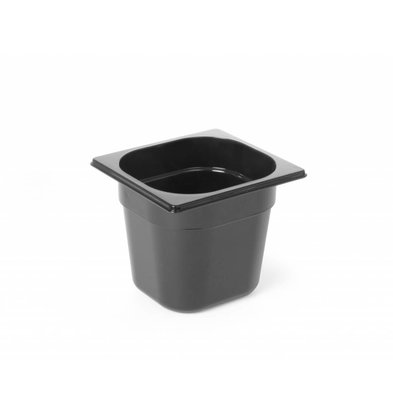 Hendi GN Behälter 1/6 | Polycarbonat Schwarz | Erhältlich in  4 Tiefen