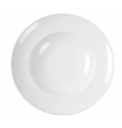 Hendi Pastateller Delta | Porzellan Weiß | Erhältlich in 2 Größen