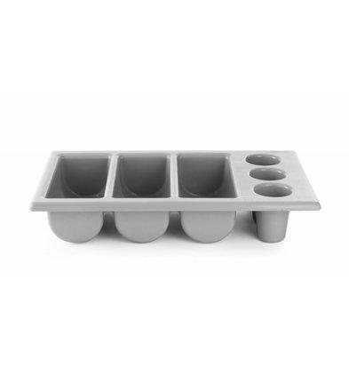 Hendi Besteckbehälter Grau | 6 Fächer | 530x325x(h)105mm