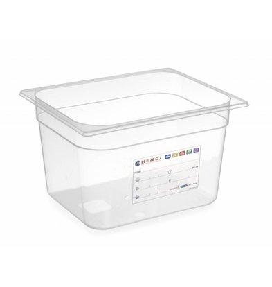 Hendi Vorratsbehälter GN 1/2  | Transparent | Erhältlich in 3 Tiefen