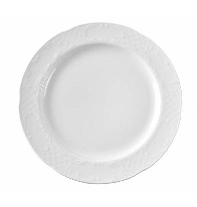 Hendi Teller Flach Flora | Porzellan Weiß | Erhältlich in 5 Größen