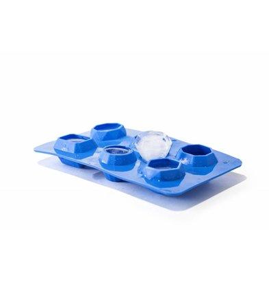 Hendi Eiswürfelform Edelstein | Für 6 Eiswürfel | 190x105x(h)30mm