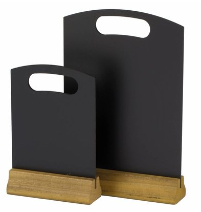Hendi Tischkreidetafel mit Holzfuß | 150x230mm | 2 Stück