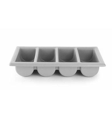 Hendi Besteckbehälter Grau | 4 Fächer | 530x325x(h)100mm