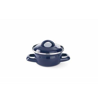 Hendi Schmortopf Mini 0,3 Liter | Blau | Ø120x(h)95mm
