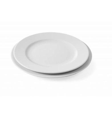 Hendi Teller Flach Delta | Porzellan Weiß | Erhältlich in 5 Größen