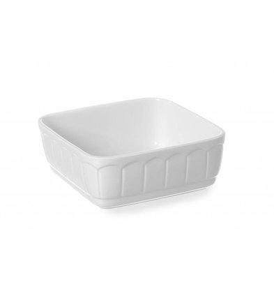 Hendi Auflaufform Rustica Quadratisch | Porzellan Weiß | 165x165x(h)70mm