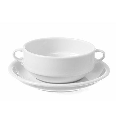 Hendi Suppentasse Delta 340mm | Porzellan Weiß