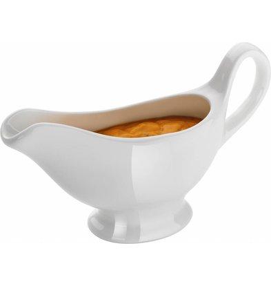 Hendi Sauciere 150ml | Porzellan Weiß | 180x55x(h)130mm