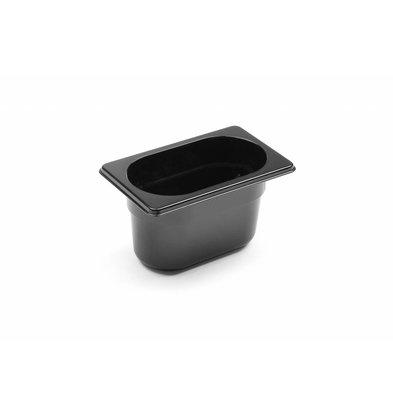 Hendi GN Behälter 1/9 | Polycarbonat Schwarz | Tiefe 100mm