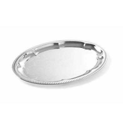 Hendi Party-Platte Oval | Verchromt |  455x340mm