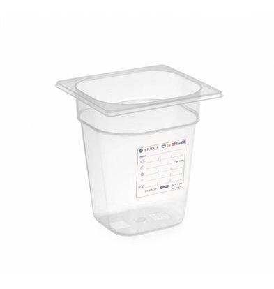 Hendi Vorratsbehälter GN 1/6  | Transparent | Erhältlich in 4 Tiefen