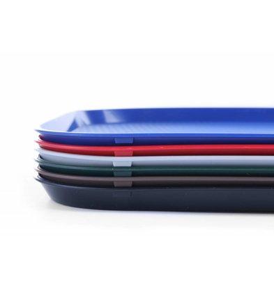 Hendi Serviertablett Fastfood | PP + Stapelbar | 350x450mm | Erhältlich in 6 Farben
