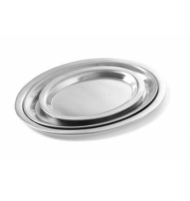 Hendi Kaffeetablett Oval | Edelstahl satiniert | Erhältlich in 3 Größen