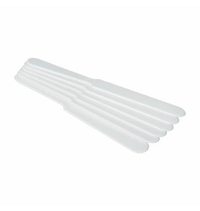 Hendi Bierabstreicher Weiß | 235x26mm | 6 Stück