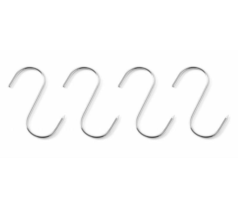 Hendi Fleischhaken Edelstahl | 90x4mm | 4 Stück