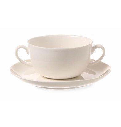 Hendi Untertasse für Suppentasse Gourmet | Porzellan Elfenbein | ø 180mm