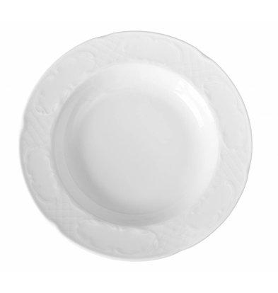Hendi Suppen-Pastateller Flora | Porzellan Weiß | Ø235mm