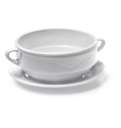 Hendi Untertasse für Suppentasse Saturn | Porzellan Weiß | Ø190mm