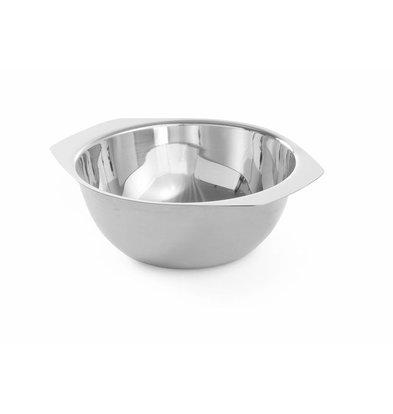 Hendi Suppenschüssel mit Griffen | 0,35 Liter | ø120x(h)50mm