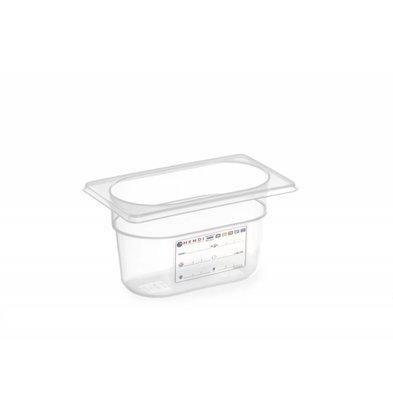 Hendi Vorratsbehälter GN 1/9  | Transparent | Erhältlich in 2 Tiefen
