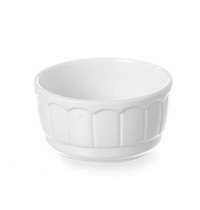 Hendi Auflaufform Rustica Rund | Porzellan Weiß | ø100x(h)50mm