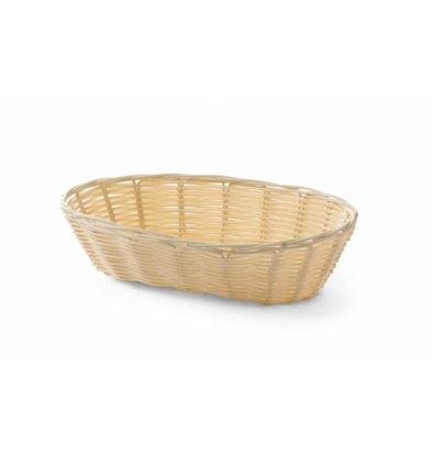 Hendi Brotkorb Oval Polyrattan | 225x130x(h)55mm