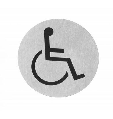 Hendi Türschild Ø75 Rollstuhl | Edelstahl