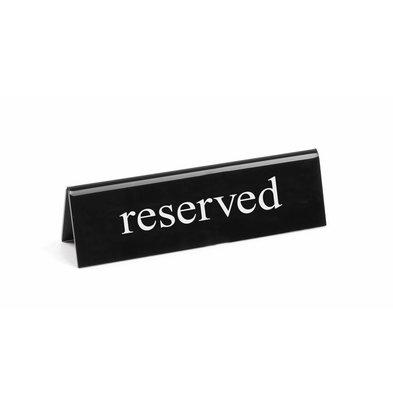 Hendi Tischaufsteller Reserviert | 130x35x(h)40 | Erhältlich in 5 Sprachen
