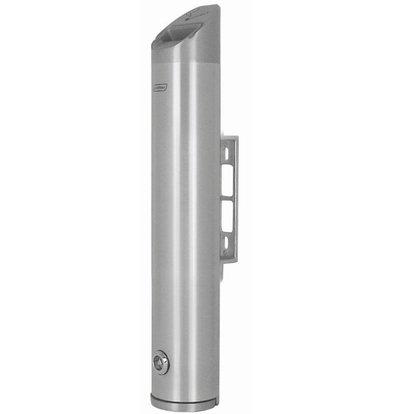 XXLselect Wandascher Rund | Aluminium | 2,4 Liter | Bis 720 Kippen | 80x80x(h)480mm