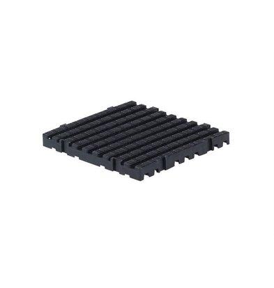 XXLselect Anti-Rutsch Bodenfliese Eckig | 50x50x5cm | Schwarz