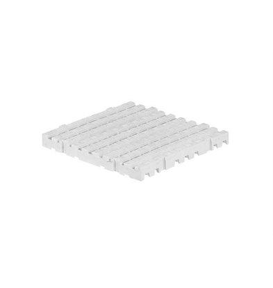 XXLselect Anti-Rutsch Bodenfliese Eckig | 50x50x5cm | Weiß