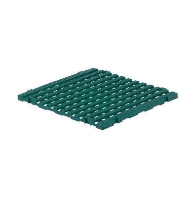 XXLselect Anti-Rutsch Bodenfliese Eckig Gastro-Plus | 60x60x3cm | Grün
