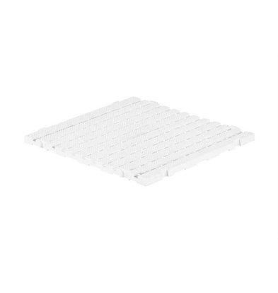 XXLselect Anti-Rutsch Bodenfliese Eckig Gastro-Plus | 60x60x3cm | Weiß