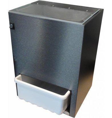 XXLselect Eiscrusher 300kg/u  | Vorratsbehälter 5kg | HEAVY DUTY | 370x310x(h)510mm