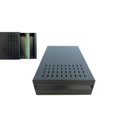 Lineoplus Sudschubladen Edelstahl | Schwarz beschichtet | 395x270x115mm