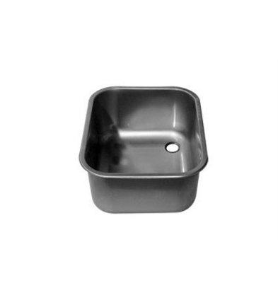 XXLselect XXL Select Einschweißspülbecken rechts | 500x400x250mm | Ohne Überlaufrinne | Edelstahl AISI 316