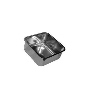 XXLselect XXL Select Einschweißspülbecken Comfort Line | 400x400x300mm | Ohne Überlaufrinne | Edelstahl AISI 304