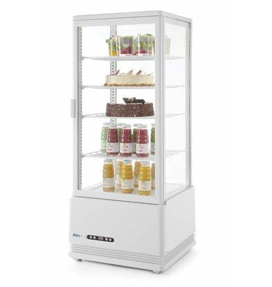 Hendi Aufsatzkühlvitrine Weiß | 98 Liter | Zwangsluftkühlung | 452x406x(h)1116mm