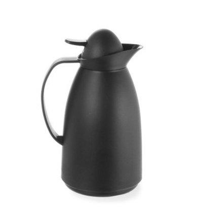 Hendi Isolierkanne Schwarz |  Innenbehälter aus Glas | 1 Liter | 140x268mm