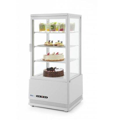 Hendi Aufsatzkühlvitrine Weiß | 78 Liter | Zwangsluftkühlung | 452x406x(h)966mm