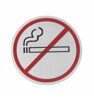 Hendi Wandschild Nicht Rauchen ø75 | Edelstahl