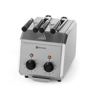 Hendi Sandwichtoaster mit 2 Zangen | Timer + Alarm | 120V-1,2kW |  300x200x(h)223mm